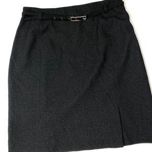 Alfani Womens Size 10P Petite Black Mini Skirt
